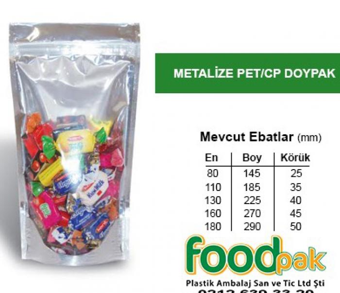 Şeffaf Metalize Doypak